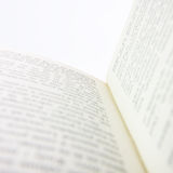 Opened book pages Stock Photography