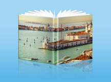 An opened  book with a picture - Gulf of Venice, Italy Royalty Free Stock Photography