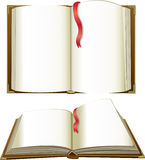 Opened books with blank pages Stock Image