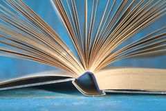 Opened books, close up, reading, learning, education,literature,. Back to school concept royalty free stock photo
