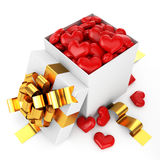 Opened box filled heart Royalty Free Stock Photography