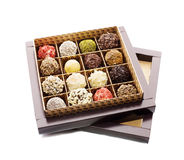 Opened box of sweets Stock Image