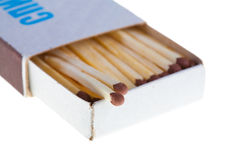 Opened boxes of matches Royalty Free Stock Photography