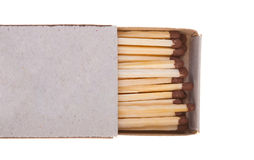 Opened boxes of matches Royalty Free Stock Images