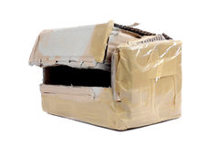 An opened brown cardboard box Royalty Free Stock Image
