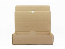 Opened brown cardboard box Stock Images