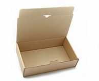 Opened brown cardboard box Royalty Free Stock Photography