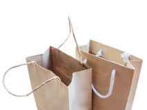 Opened brown shopping bag Royalty Free Stock Photo