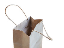 Opened brown shopping bag Royalty Free Stock Image