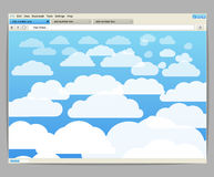 Opened browser window template Stock Photography
