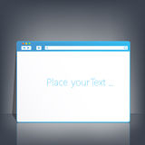 Opened browser window template on dark background Royalty Free Stock Photography