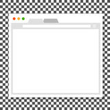 Opened browser window template Stock Images