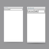 Opened browser windows template Stock Photos