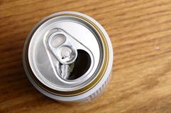 Opened Can of beer Stock Images