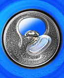 Opened can for beverage or beer Royalty Free Stock Images