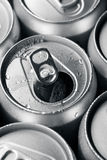 Opened canned beer Stock Photo