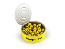 Opened canned happiness Stock Image