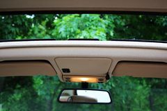 Opened Car roof Royalty Free Stock Photo
