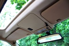 Opened Car roof. A photo of Opened Car roof Royalty Free Stock Photos