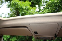 Opened Car roof Royalty Free Stock Image