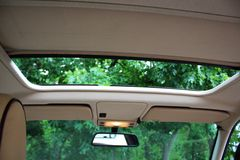 Opened Car roof. A photo of Opened Car roof Royalty Free Stock Image