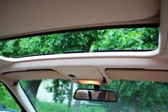 Opened Car roof. A photo of Opened Car roof Royalty Free Stock Images