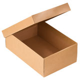 Opened cardboard box Stock Photos