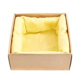 Opened cardboard box isolated Royalty Free Stock Photography