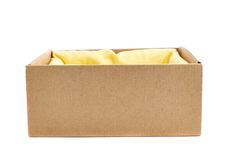 Opened cardboard box isolated Stock Photos