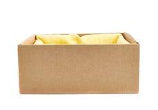Opened cardboard box isolated Stock Photos