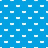 Opened cardboard box pattern seamless blue. Opened cardboard box pattern repeat seamless in blue color for any design. Vector geometric illustration Stock Image