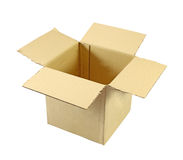 Opened cardboard box Royalty Free Stock Photos