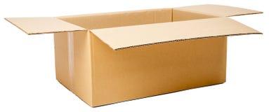 Opened cardboard box Royalty Free Stock Photos