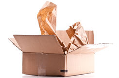 Opened Cardboard Shipping Box Stock Image