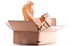 Opened Cardboard Shipping Box Stock Image