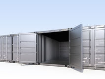 Opened cargo container Stock Photos