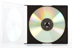 Opened case with compact disc Royalty Free Stock Images