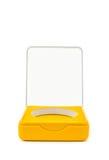 Opened case. With orange interior over white royalty free stock photo