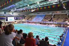 Opened championship of Russia on swimming Royalty Free Stock Photos
