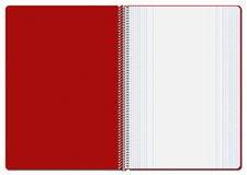 Opened Checkered Red Notebook Stock Photography