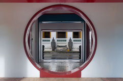 Opened chinese moon door Royalty Free Stock Photography