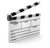Opened Clapboard. Image with clipping path Stock Image
