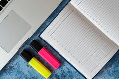 Business notebook for record important events and meetings with business partners stock photos