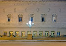Cleveland Public Auditorium on Lakeside Avenue in downtown Cleveland, Ohio is an historic event venue stock images