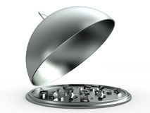Opened cloche concept, 3D Stock Photography