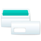 Opened and Closed Blank Envelopes Stock Images
