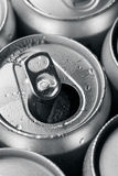 Opened and closed canned drinks Royalty Free Stock Photography