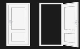 Opened and closed door Royalty Free Stock Photos