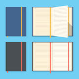 Opened and closed notebooks. Stock Photography