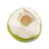 Opened coconut isolated Stock Photo